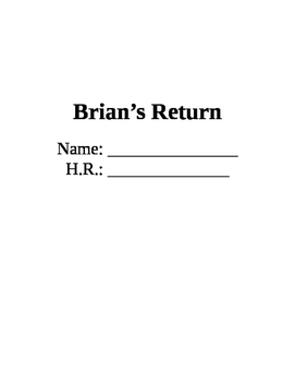 Brian's Return Skills-Based Questions Packet