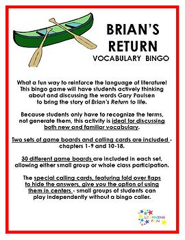 Brian's Return Vocabulary Bingo