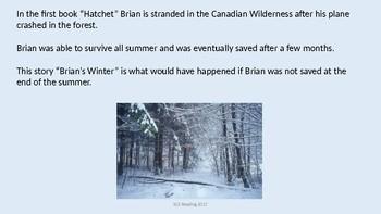 Brian's Winter - Adapted Power Point - Summary - Hatchet Sequel Paulsen