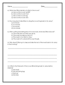 Brian's Winter Chapter 10 Quick Quiz