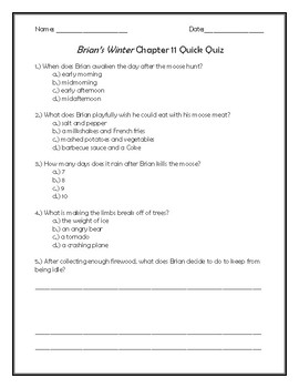 Brian's Winter Chapter 11 Quick Quiz