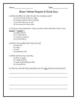 Brian's Winter Chapter 13 Quick Quiz