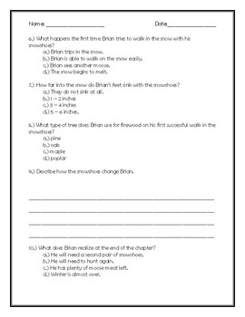 Brian's Winter Chapter 14 Quick Quiz