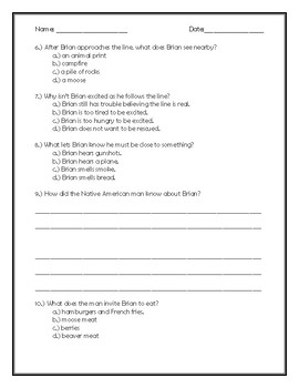 Brian's Winter Chapter 17 Quick Quiz