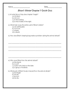 Brian's Winter Chapter 7 Quick Quiz