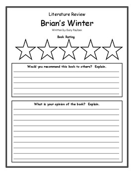 Brian's Winter Gary Paulsen Book Review, Opinion, Summary, Rating, Main Idea