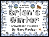 Brian's Winter (Gary Paulsen) Novel Study / Reading Comprehension  (36 pages)