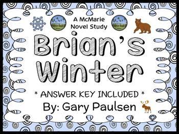 Brian's Winter (Gary Paulsen) Novel Study / Reading Compre