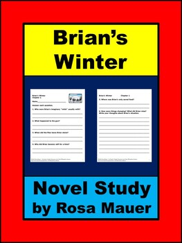 Brian's Winter Novel Study