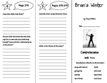 Brian's Winter Trifold - Storytown 6th Grade Unit 3 Week 4