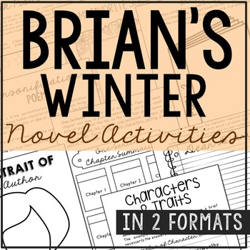 Brian's Winter Interactive Notebook Novel Unit Study Activ
