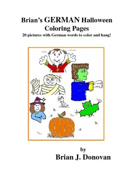 Brian's GERMAN Halloween Coloring Pages