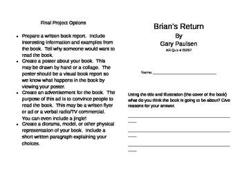 Brian's Return Literature Unit