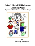 Brian's SPANISH Halloween Coloring Pages