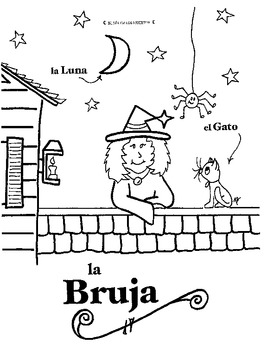 Brian\'s SPANISH Halloween Coloring Pages by BrinD | TpT
