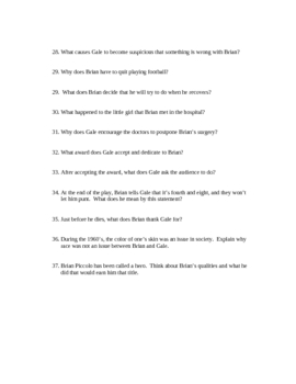 Brian's Song Study Guide