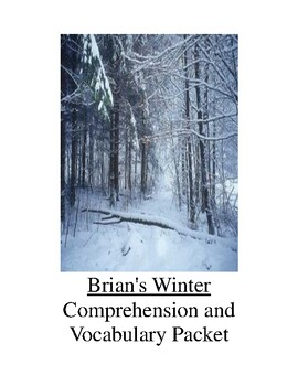 Brian's Winter Comprehension and Vocabulary Packet