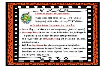 Briathra An Chéad Réimniú _ Task Cards