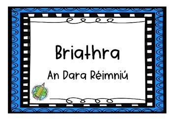Briathra An Dara Réimniú _ Task Cards