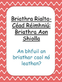 Briathra Rialta Aon Shiolla
