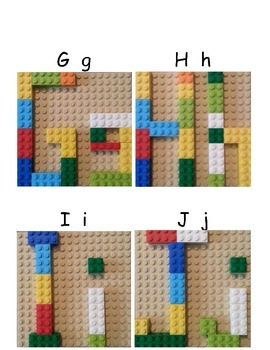 Brick Alphabet Cards