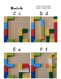 Brick Alphabet Cards