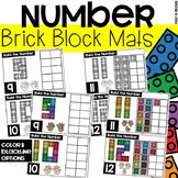 Brick Block Number Mats - Fine Motor Fun!