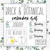 Brick & Botanical Galvanized Classroom Calendar Set