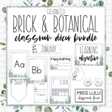 Brick & Botanical Galvanized Classroom Decor Bundle