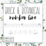 Brick & Botanical Galvanized Classroom Number Line for Wall