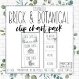Brick & Botanical Galvanized Clip Chart Pack {Editable}