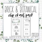 Brick & Botanical Galvanized Clip Chart Pack {Editable}