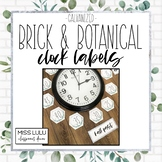 Brick & Botanical Galvanized Clock Labels | Clock Helpers