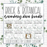 Brick & Botanical Galvanized Secondary Classroom Decor Bundle