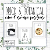 Brick & Botanical Galvanized Shape and Color Posters