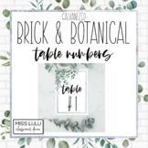 Brick & Botanical Galvanized Table Numbers Classroom Decor