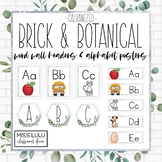 Brick & Botanical Galvanized Word Wall & Alphabet Posters