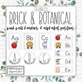 Brick & Botanical Galvanized Word Wall & Alphabet Posters