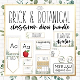 Brick & Botanical Gold Classroom Decor Bundle