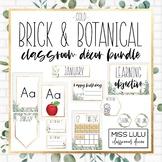 Brick & Botanical Gold Classroom Decor Bundle