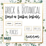 Brick & Botanical Gold Classroom Decor Teacher Toolbox Lab