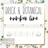 Brick & Botanical Gold Classroom Number Line for Wall