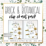 Brick & Botanical Gold Clip Chart Pack {Editable}