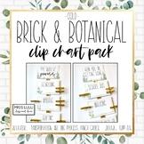 Brick & Botanical Gold Clip Chart Pack {Editable}