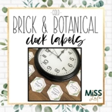 Brick & Botanical Gold Clock Labels | Clock Helpers