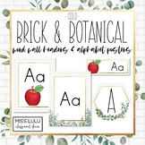 Brick & Botanical Gold Word Wall & Alphabet Posters