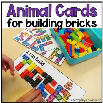 I Can Build Animal Names: Building Brick Cards