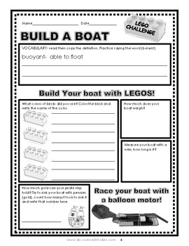 Brick Challenge: Build A Boat- STEM Lesson Plan