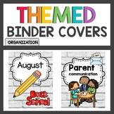 Brick Classroom Decor Binder Covers