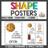Brick Classroom Decor Shape Posters with attributes